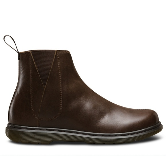 11497225b6e9 New Dr. Martens Noelle Brown Leather Chelsea Boot